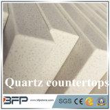カスタムサイズの建築材料の人工的な石造りのPrecut白い水晶カウンタートップ