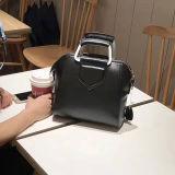 Cartella semplice di colore solido del sacchetto di Tote delle donne della borsa del cuoio genuino di vendita calda per le signore Emg5130