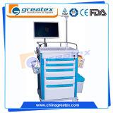 Trolley de mesa de computador de enfermagem sem fio, carrinho de estação de trabalho de computador (GT-QNT1201)