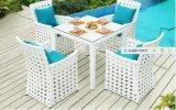 5 Stücke im Freien speisende Stuhl DEST gesetzte PET Rattan-Möbel-