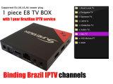 IPTV Kasten Brasilien IPTV 300+ kanalisiert Vierradantriebwagen-Kern Amlgoic S905X mit freiem IPTV, das als PRO Mxq besser ist