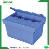 Caixa de volume de negócios de logística de plástico com tampa