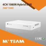 Дешевые 4CH 1080n P2p-Ахд и IP-записи Hybrid мини-систем видеонаблюдения Системы Безопасности DVR (6704H80H)