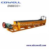 Transportador de tornillo espiral para transporte de madera o de pienso
