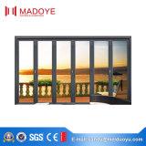 Portello di piegatura di alluminio di vetro Tempered di stile europeo standard dell'Australia