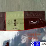 Saco Ziplock personalizado do empacotamento plástico de folha de alumínio