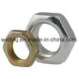 Noix hexagonale mince en acier inoxydable DIN 936
