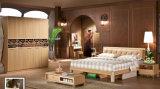 Venda Por Atacado Set de Móveis de Design de Cama de Madeira Chinês Baratos (UL-LF015)