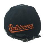 Изготовленный на заказ шлемы крышки Snapback PU хлопка черноты вышивки 3D для партии на Новый Год
