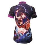 Kundenspezifischer komisches Mädchen gekopierter des Sommer-Kurzschluss-Hülsen-Dame-/Mädchens radfahrender Jersey-Shirt-Breathable Sport im Freien