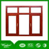 Color madera de color blanco Theremal Romper ventana corrediza de aluminio