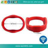 bracelet fait sur commande de silicones d'événement d'IDENTIFICATION RF d'Ajustable d'IDENTIFICATION RF d'à haute fréquence 13.56MHz