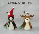 Dangle Legged Woodland Decoración de Navidad Gift Craft -4asst