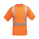 T-shirt élevé de polo de sûreté de visibilité de la marque réfléchissante
