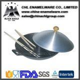 Esmalte sem fumaça não fumante Forno de fritar chinês de ferro fundido Wok