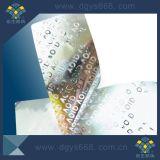 Etiqueta 2017 evidente da segurança do holograma da calcadeira feita sob encomenda do favo de mel
