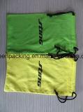 [ميكروفيبر] كيس/حقيبة في صفراء و [غرين كلور] مع علامة تجاريّة أسود