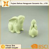 Coniglio di ceramica verde Handmade di Pasqua del coniglietto di pasqua