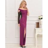 Deluxe purpurrote Ein-Schulter langes Kleid