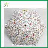 [5فولد] صغيرة مظلة [أولترا] ضوء ترويجيّ كبسولة مظلة مع علامة تجاريّة طباعة