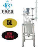 1L 2L 3L 5L'isolant chemisé pour le mélange de réacteur en verre de prix à partir de la Chine Fabricant de laboratoire