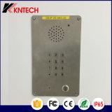 Téléphone à l'épreuve des intempéries Knzd-15 Acier inoxydable à poussière Téléphone Ascenseur Interphone Téléphone