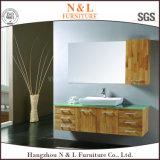 現代様式のカシ木浴室の虚栄心