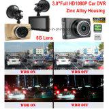 """新しい亜鉛合金ハウジングの箱3.0 """"車のカメラの組み込みのNovatek Ntk96650完全なHD1080p車DVRのチップセット、5.0mega車のカメラ、駐車制御、H. 264車DVR-3005"""