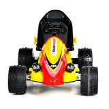 Électrique Conduire-sur le jouet Kart jaune à télécommande Car- des enfants