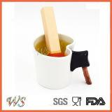 Setaccio del foglio di Infuser del tè della corrispondenza del silicone del commestibile Ws-If060 per la tazza della tazza, POT del tè