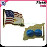 Lustige USA-weiche Decklack-Metalleisen-Markierungsfahnen-Revers-Stifte (MTLP006) mit Gummiclips