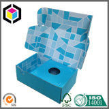 Caixa ondulada da caixa da cor Matte do preto da laminação
