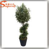 2015 passte preiswerten mini künstlichen Zierpflanzentopiary-Baum an