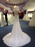 Платья венчания отвесного лифа пляжа шифоновые с разделением & Keyhole