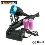 Lanterna elétrica recarregável máxima da lanterna elétrica 4000 Lm do diodo emissor de luz de Hoozhu Hu33 para o mergulho
