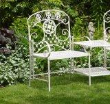 테이블을%s 가진 철 정원 두 배 안락 의자