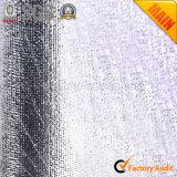 Tecidos laminados de prata metálica de prata
