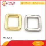 Inarcamento d'attaccatura dell'anello del quadrato del metallo del nichel con il nome