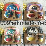 Design personalizado Jantar de fibra de bambu livre de BPA para as crianças, Bonitinha Carton Design, Placa de jantar