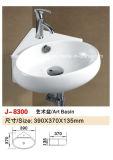 L'ajustage de précision sanitaire de salle de bains d'articles Mur-A arrêté le bassin de salle de bains de lavabo (J-8300)