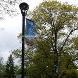 Getto di inchiostro materiale Digital della bandiera della bandierina della doppia della via parteggiata del Lamppost del palo chiaro del PVC flessione esterna del vinile stampata