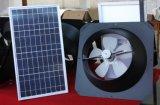 Angeschaltener Ventilations-prüfender Solarventilator auf Wand oder Dach