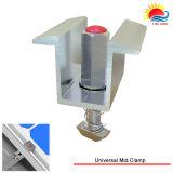 Le panneau solaire encadre des supports pour l'ensemble industriel (GD760)