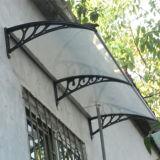 Ventana del toldo del policarbonato de bronce del color o pabellón impermeable de la puerta
