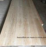 Plancher chaulé français conçu de chêne de Wirebrushed de planche large
