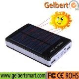 Côté solaire portatif de vente chaud de pouvoir de chargeur de 10000mAh RoHS avec des lumières