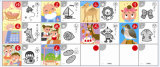 주석 상자를 가진 Edcation 트럼프패 게임이 일본에 의하여 농담을 한다