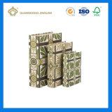 Crear el rectángulo de empaquetado de papel impreso del libro de la cartulina para requisitos particulares decorativa de la dimensión de una variable (el rectángulo decorativo del libro falso)