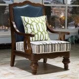 Sofá americano do couro genuíno de projeto moderno único para a mobília As823 da sala de visitas