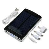 Banco de alimentación externa portátil de batería solar con doble puerto USB